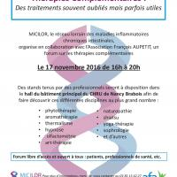 FORUM CHRU NANCY BRABOIS 17 NOVEMBRE 2016